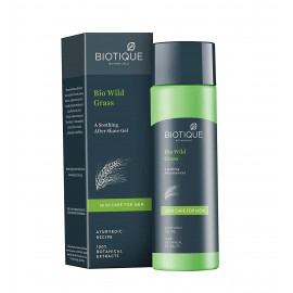 Biotique Bio Wild Grass A Soothing After Shave Gel For Men, 120Ml <small>(Shipping Per: MK87.50)</small>