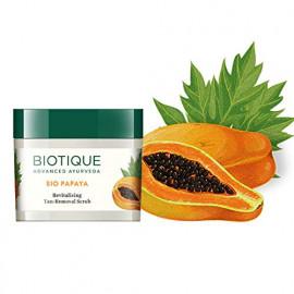 Biotique Bio Papaya Revitalizing Tan Removal Scrub for All Skin Types, 75g <small>(Shipping Per: MK74.25)</small>