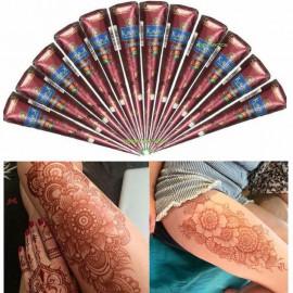 KAVERI HENNA CONES| BODY ART | TEMPORARY TATTOO | MEHENDI |100% SAFE WITH 1 MULTICOLOR BINDI (COMBO PACK) <small>(Shipping Per: MK57.50)</small>