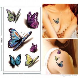 SENECIO® Mini Design Colorful Flower Butterfly Waterproof Body Art Sleeve DIY Stickers Glitter Temporary Tattoo <small>(Shipping Per: MK35.00)</small>