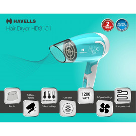 Havells HD3151 1200W Powerful Hair Dryer  <small>(Shipping Per: MK603.30)</small>