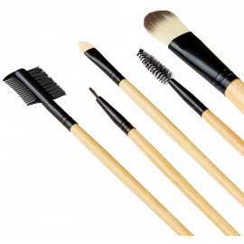 Solimo Makeup Brush Set With PU Leather Case (24 Pieces) <small>(Shipping Per: MK287.00)</small>