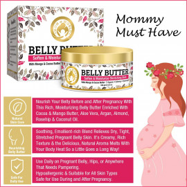 Mom & World Belly Body Butter with Mango and Cocoa for Stretch Marks Tummy, 100 gm <small>(Shipping Per: MK179.20)</small>