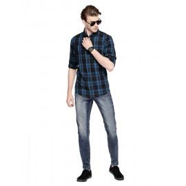 Dennis Lingo Men's Checkered Teal Blue <small>(Shipping Per: MK93.35)</small>