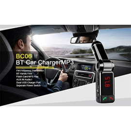 SPYKART Car MP3 Audio Player Bluetooth FM Transmitter Transmiter FM Modulator Car Kit LCD Display USB Charger <small>(Shipping Per: MK747.95)</small>