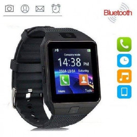 ZXEGA DZ09 Bluetooth Smart Watch with Touchscreen, multifunctional TF and Sim Card Support With Camera, and Multi-Language for All Smartphones (Black) <small>(Shipping Per: MK137.50)</small>