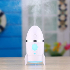 Romino Rocket humidifiers Air diffusers freshener for Room,Car,Home And Office With LED Night Light For (Multi Color) <small>(Shipping Per: MK97.35)</small>