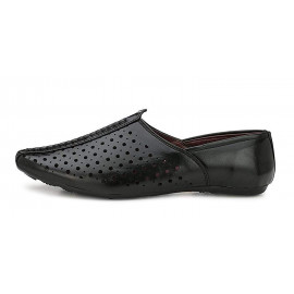 VON HUETTE Handmade Kolhapuri/Rajasthani/Mojari/Jutties Lightweight Ethnic Casual Jutti/Mojri Faux Leather Sherwani Mojari's and Traditional Shoes for Men's <small>(Shipping Per: MK502.35)</small>