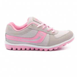 Asian Shoes Women's Light Grey And Pink Sports Shoes - 5 Uk <small>(Shipping Per: MK282.35)</small>