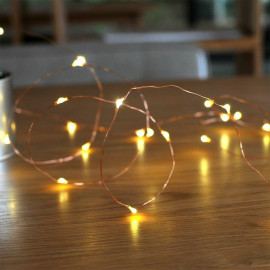 LTETTES Battery Operated Copper String Lights Waterproof Decorative Fairy String Lights Party Wedding Decor,Diwali Christmas,Tapestry Fishtank Garden Lights (Warm White, 5 Meters 50 LED) <small>(Shipping Per: MK377.40)</small>
