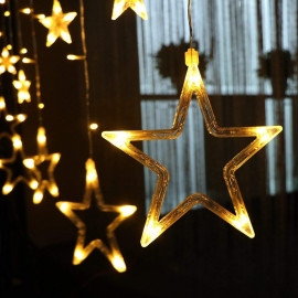 Citra LED Curtain String Lights with 12 Stars and 138 Pieces and 8 Modes Lights (Warm White) <small>(Shipping Per: MK726.30)</small>