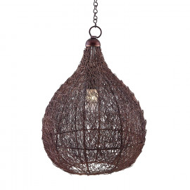 Homesake Classic Twisted Wire Crown Hanging Pendant Light, Antique Copper Hanging Fixture Lamp <small>(Shipping Per: MK1,092.95)</small>