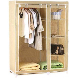 Wyvern Anything & Everything 3.5 Feet Foldable Storage Cabinet Almirah Carbon Steel Collapsible Stroage Wardrobe Organizer | Multi Purpose Almira/Racks  (Finish Color - Cream) <small>(Shipping Per: MK10,792.30)</small>