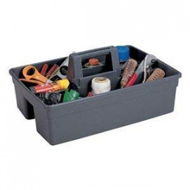DHWANI ENTERPRISE ABS Handy Caddy Bucket with Duster Cloth (Grey, 15 x 10.9 x 7.4-inches) <small>(Shipping Per: MK142.65)</small>