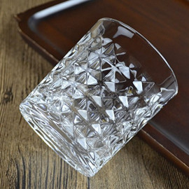 King International Crystal Diamond Cut Straight Imported Whiskey Glasses  Wine Glasses   Home & Bar Tableware  Set of 6 Glasses   300 ml <small>(Shipping Per: MK925.80)</small>