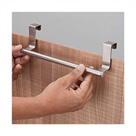 JVS Brushed Steel Towel Holder, Silver <small>(Shipping Per: MK62.90)</small>
