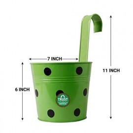 Trust Basket Single Pot Railing Planter (Multicolour, Pack of 5) <small>(Shipping Per: MK814.40)</small>