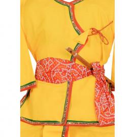 Krystle Kids Cotton Silk Clothing Set (KRY-KRISHNA-DRESS5-6, Yellow, 5-6 Years, Combo of 5) <small>(Shipping Per: MK522.80)</small>