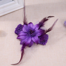 Questionno Photography Props Baby Girls Elastic Fashion Hairband Children Headwear Hair Accessories(Purple) <small>(Shipping Per: MK178.45)</small>