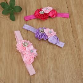BESTVECH Baby Girl's Detachable Elastic Rhinestone Flower Headband Hair Accessory -5 Pieces <small>(Shipping Per: MK428.45)</small>