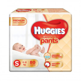 Huggies Ultra Soft Pants Diapers, Small (Pack of 80) <small>(Shipping Per: MK682.80)</small>