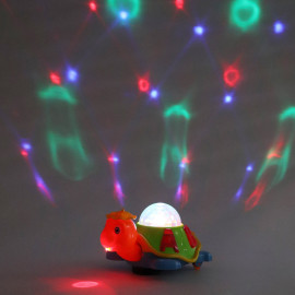 Kurtzy Turtle Toy with Sound and 3D LED Light Music for Baby Children Kids Certified by Bureau of Indian Standards <small>(Shipping Per: MK628.40)</small>