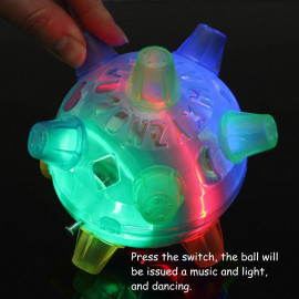 JAY ANTIQUES Flash Jumping Vibrating Bouncing Ball, Creative Flashing Dancing Ball with Colorful LED Light and Music, Novelty Light up Jump Ball Toys for Kids Boys Girls, Color Random <small>(Shipping Per: MK667.90)</small>
