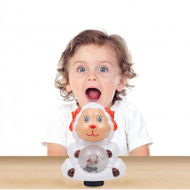Kurtzy Rotating Sheep with LED 3D Light and Music Sound Toy for Baby Children Kids Certified by Bureau of Indian Standards <small>(Shipping Per: MK1,178.40)</small>