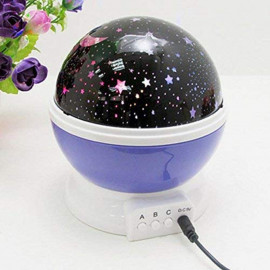Krupalu Plastic Rotating LED Projector Night Lamp for Baby Room Decor - 1pc (Assorted Color) <small>(Shipping Per: MK526.80)</small>