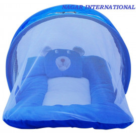Nagar International Baby's Polyester Soft Mattress with Mosquito Net (Blue) <small>(Shipping Per: MK928.45)</small>