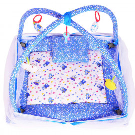 DearJoy Baby Kick and Play Gym with Mosquito Net and Baby Bedding Set (Blue Bunny Print) <small>(Shipping Per: MK627.40)</small>