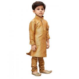 JBN Creation Boys' Cotton Silk Kurta and Pyjama Set (Rose Gold_VASBKRG001nPRG) <small>(Shipping Per: MK751.75)</small>