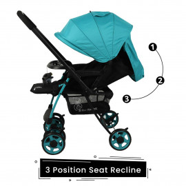 R for Rabbit Rock N Roll - The Rocking Baby Stroller and Pram for Baby/Kids with Easy Compact Folding(Red Black) <small>(Shipping Per: MK2,773.90)</small>