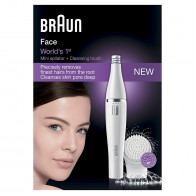 Braun Face 810 – Facial Epilator and Facial Cleansing Brush with Micro-Oscillations (White) <small>(Shipping Per: 5 %)</small>