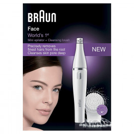Braun Face 810 – Facial Epilator and Facial Cleansing Brush with Micro-Oscillations (White) <small>(Shipping Per: MK2.80)</small>