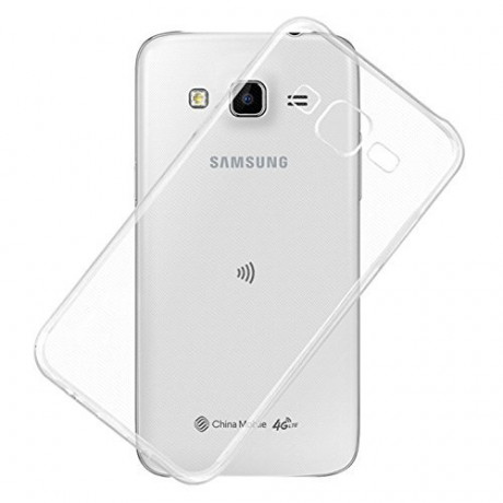 Exclusive Soft Silicone TPU Jelly Transparent Crystal Clear Case Soft Back Case Cover for Samsung Galaxy J7 J700F <small>(Shipping Per: MK0.70)</small>