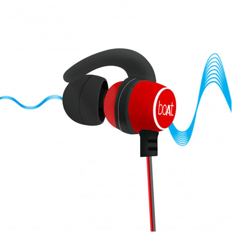 boAt Rockerz 255 Sports Bluetooth Wireless Earphone with Immersive Stereo Sound and Hands Free Mic (Raging Red) <small>(Shipping Per: MK0.70)</small>