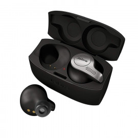 Jabra Elite 65t Alexa Enabled True Wireless Earbuds with Charging Case (Titanium Black) <small>(Shipping Per: MK0.95)</small>