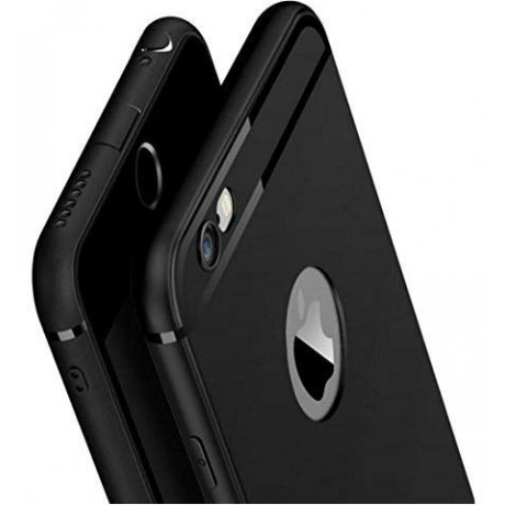 iPhone 6 Case/iPhone 6S Case- Amozo® Soft Silicone with Anti Dust Plugs Shockproof Slim Back Cover Case for Apple iPhone 6/6S - Black <small>(Shipping Per: MK0.75)</small>