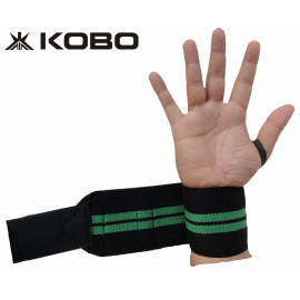 Kobo WTA-04 Power Cotton Gym Support with Thumb Support Grip Gloves (Black) <small>(Shipping Per: MK0.30)</small>