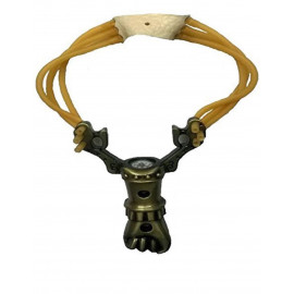 SHOPEE NO.17 W/Compass Metal Slingshot Shot Catapult with Rubber Band for Outdoor Hunting Shooting Sports Entertainment <small>(Shipping Per: MK1.15)</small>