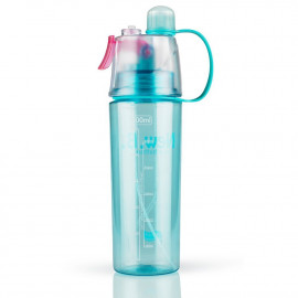 HomeFast Mist Spray Water Bottle 600ml Portable Sport Water Bottle Anti-Leak Drinking Cup with Mist Hydration <small>(Shipping Per: MK0.20)</small>