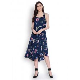 Abiti Bella Women's Indigo Fit and Flare Woven Dress <small>(Shipping Per: MK1.45)</small>