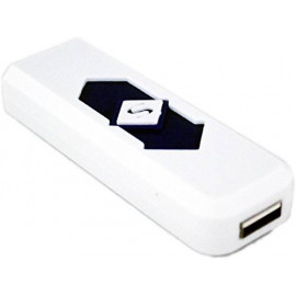 AVMART USB Flameless, Windproof, Electronic and Rechargeable Cigarette Lighter - White <small>(Shipping Per: MK0.30)</small>