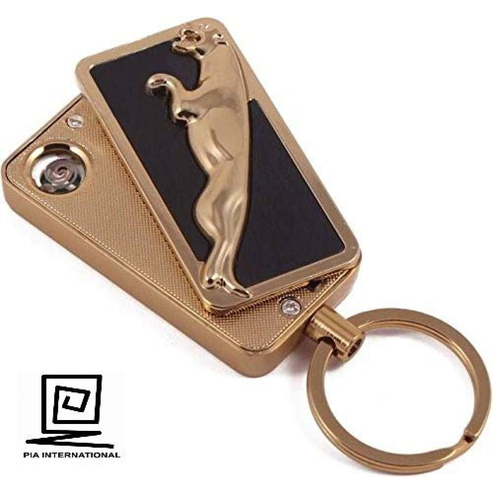 PIA INTERNATIONAL® USB RECHARGEABLE JAGUAR CIGARETTE LIGHTER <small>(Shipping Per: MK1.00)</small>