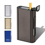 XiuFen Aluminium Alloy Ejection Holder Portable Automatic Cigarette Case Windproof Metal Smoke Boxes Color Mixing JDYH006 <small>(Shipping Per: 5 %)</small>