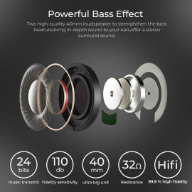 Bass Evolution Latitude Bluetooth 5.0 Wireless Headphones with Microphone, Deep Bass and Noise Isolation <small>(Shipping Per: MK2.35)</small>