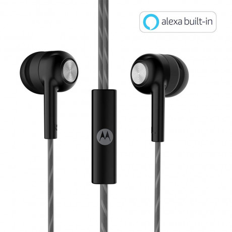 Motorola Pace 110 in-Ear Headphones with Mic (Black) <small>(Shipping Per: MK0.60)</small>