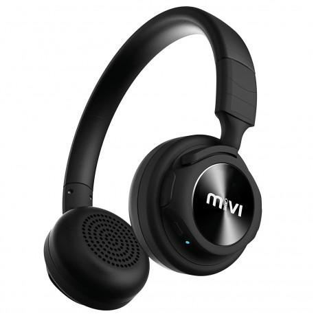Mivi Saxo Wireless Bluetooth Earphones - Jet Black <small>(Shipping Per: MK3.85)</small>