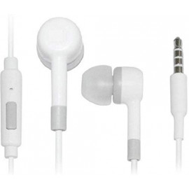 bring smile Earphone f Wired Headset with Mic (Withe, in The Ear) <small>(Shipping Per: MK0.25)</small>